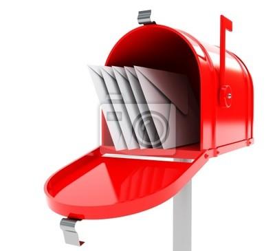 czerwone skrzynki z maili