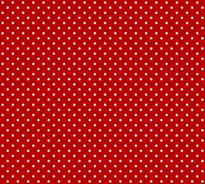 Fototapeta Czerwone tło z białymi kropkami