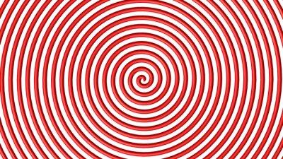 Fototapeta Czerwony i biały hipnotyczny krąg