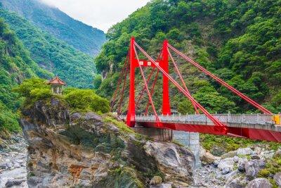 Fototapeta Czerwony Most w Taroko Park Narodowy Tajwanu