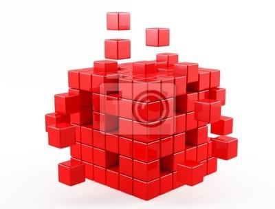 czerwony sześcian