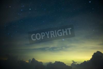 Fototapeta Część z Drogi Mlecznej i galaktyki Andromedy