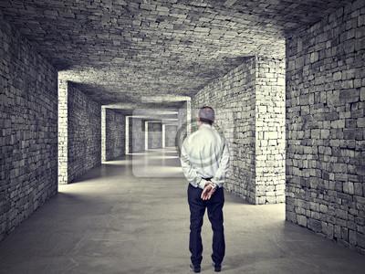 Fototapeta Człowiek i tunelu