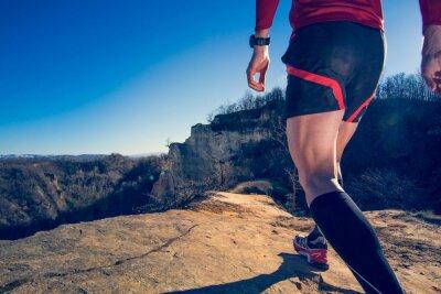 Fototapeta Człowiek robi bieganie