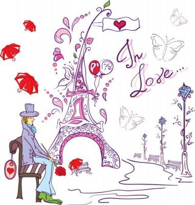 Fototapeta Człowiek w miłości Valentine 's