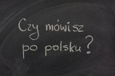 Fototapeta Czy mówisz po polsku pytanie na tablicy