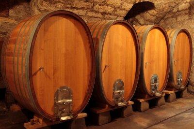 Fototapeta Dąb, wino czerwone, dębowych beczkach, beczki wina, drewniane beczki