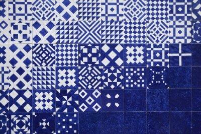 Fototapeta Dachówka niebieskie tło
