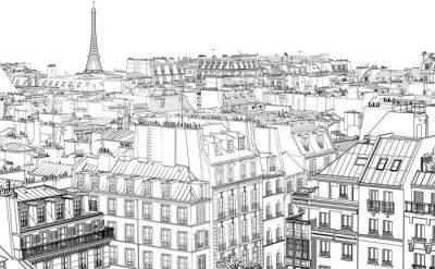 Fototapeta dachy w Paryżu