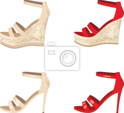 Damskie buty ustawione