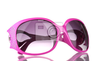 31ce8248d203f Fototapeta Damskie różowe okulary z diamentów samodzielnie na białym tle