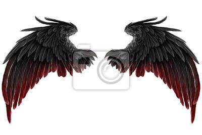 Fototapeta dark Angel Wings