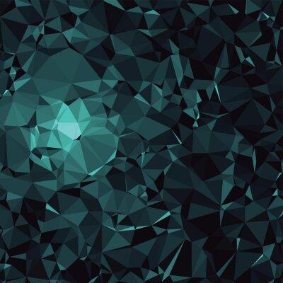 Fototapeta Dark Blue Poly Triangle Pattern
