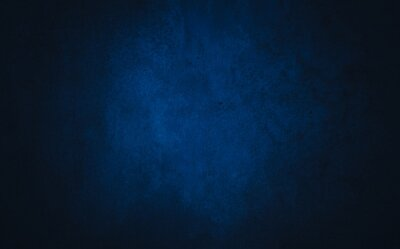 Fototapeta Dark blue textured concrete background with center light spot . Abstract texture for graphic design or wallpaper