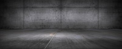 Fototapeta Dark Floor Background Concrete Wall Empty Stage Backdrop for Product Placement and Presentation