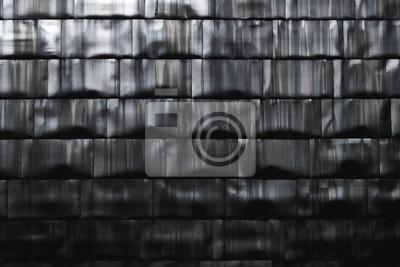 Fototapeta Dark titanium bricks wall