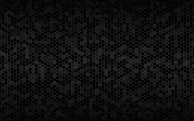 Fototapeta Dark widesreen background with hexagons with different transparencies. Modern black geometric design. Simple vector illustration