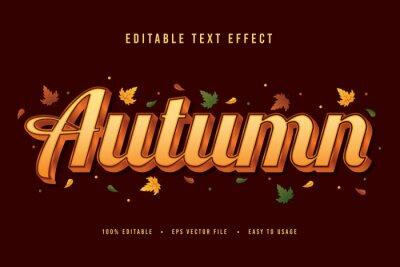 Fototapeta decorative autumn Font and Alphabet vector