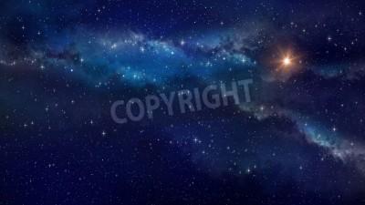 Fototapeta Deep Space. Bardzo wysokiej rozdzielczości tle pole gwiazd