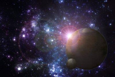 Fototapeta Deep Space Ilustracja egzoplanet