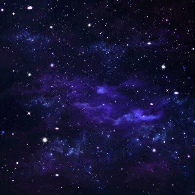 Fototapeta Deep Space, streszczenie niebieskim tle