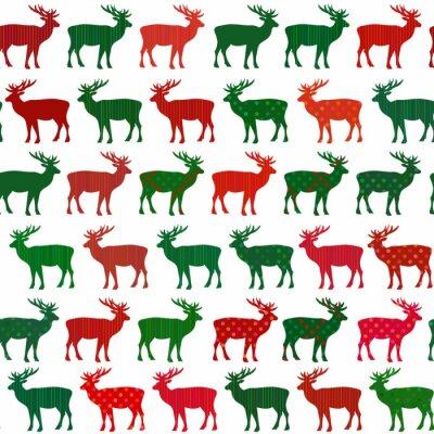 Fototapeta Deer Christmas holiday wektor szwu