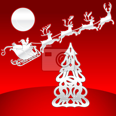 Deer drużyny i Christmas Tree