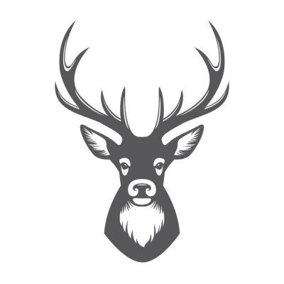 Fototapeta Deer głowa ilustracja