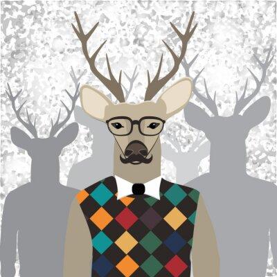 Fototapeta Deer hipster