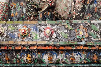 Dekoracje na Wat Arun (Świątynia Świtu)