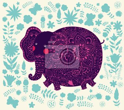 Fototapeta Dekoracyjne elephant