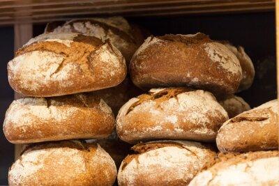 Fototapeta Delicious fresh bread in a bakery