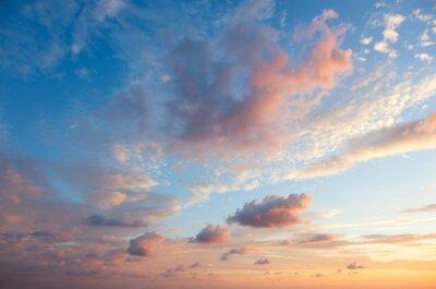 Fototapeta Delikatne tle nieba o zachodzie słońca czas, naturalne kolory, mogą korzystać
