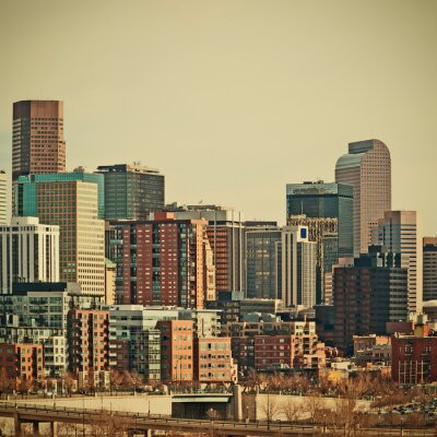 Fototapeta Denver Colorado Downtown Area