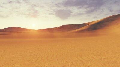 Fototapeta Desert sunset or surise