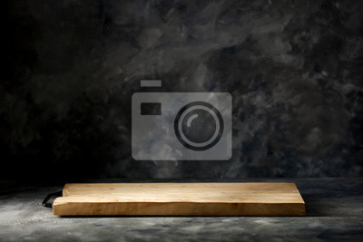 Desk of free space for your decoration and dark mood background
