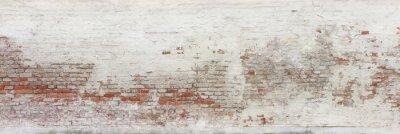 Fototapeta Detail of an old dilapidated farmhouse facade.