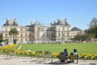 fototapeta d tente au jardin du luxembourg au printemps. Black Bedroom Furniture Sets. Home Design Ideas
