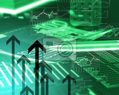 Fototapeta Diagramy finansowe wykresy i grafiki