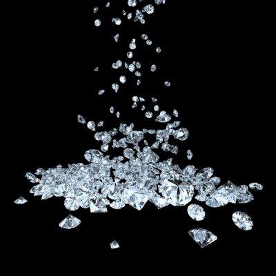 Fototapeta diamenty na czarnym