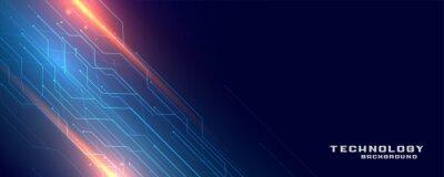 Fototapeta digital technology circuit lines banner design