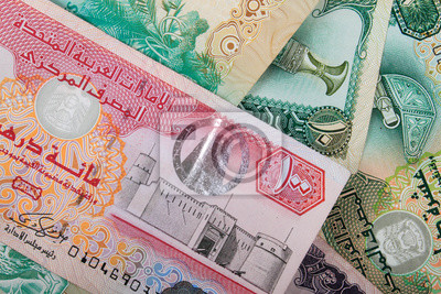 Fototapeta Dirham ZEA walut banknotów
