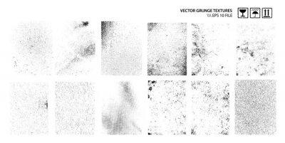 Fototapeta Dirty Grunge Textures Vector Set