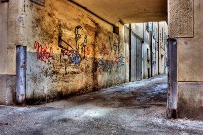 Fototapeta dirty pasa w starym mieście