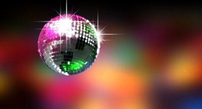 Fototapeta Disco Ball lśniące kolorowe