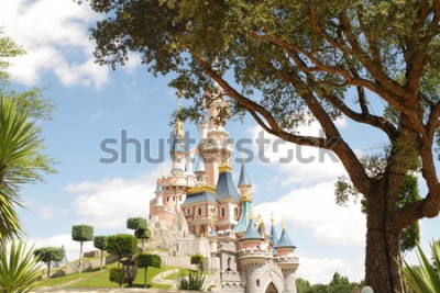 Fototapeta Disneyland Paris castle