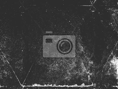 Fototapeta Distress old cracked concrete vector texture. Black and white grunge background. Stone, asphalt, plaster, marble.