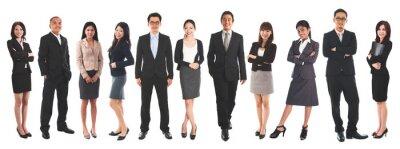 Fototapeta Diverse Asian business people