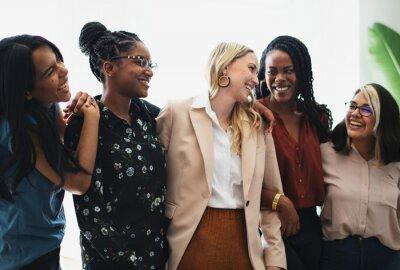 Fototapeta Diverse confident businesswomen standing together