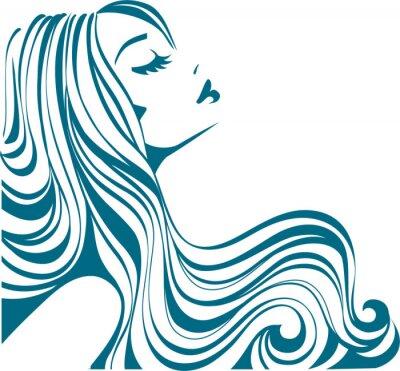 Fototapeta Długie włosy